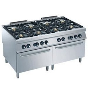 Diamond Gas stove | 8 Burners | 6 and 10kW | 2 Gas ovens | 1600x900x (h) 850 / 920mm