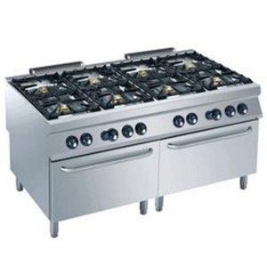 Diamond Gasfornuis | 8 Branders | 6 en 10kW | 2 Gas Ovens | 1600x900x(h)850/920mm