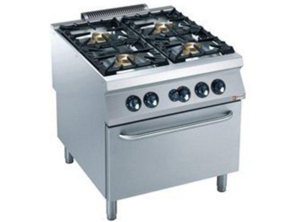 Diamond Gasfornuis | 4 Branders | Gas Oven | 800x900x(h)850/920mm