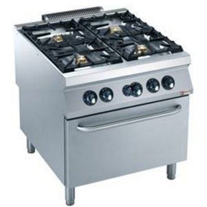 Diamond Gasfornuis | 4 Branders | Gas Oven | 800x900x(h)850/920mm