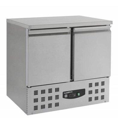 XXLselect Freeze-Workbench SS - 2 Türen - Motor unter - 95x70x (h) 85,5cm