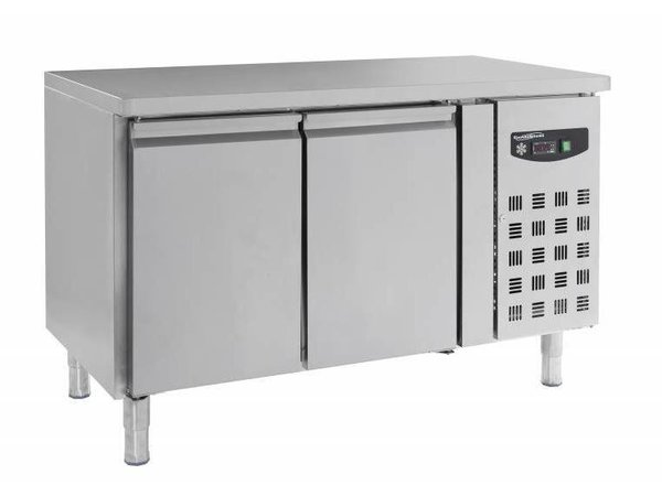 Combisteel Vrieswerkbank RVS - 2 Deurs- op Staanpoten - 272 Liter -136x70x(h)86cm