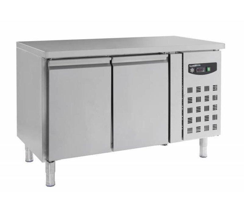 Combisteel Freeze-Workbench SS - 2 Deurs- auf Stativbeine - 272 Liter -136x70x (h) 86cm