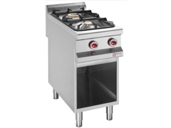 Diamond Gas stove | 2 Burners | 3.2 and 5.5 kW | Open Cupboard | 400x900x (h) 850 / 920mm