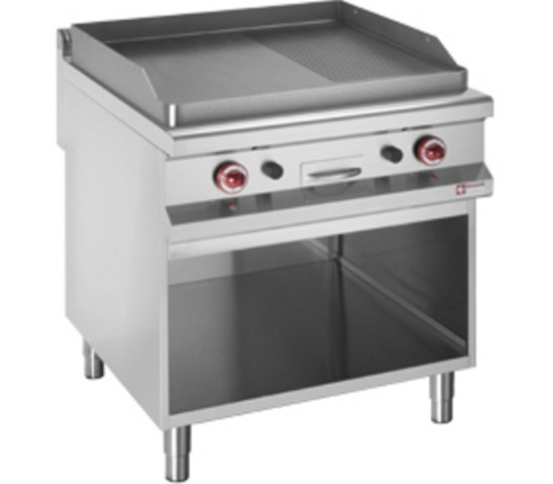 Diamond griddle | gas | Flat Griddle | Open Cupboard | 800x900x (h) 850 / 920mm