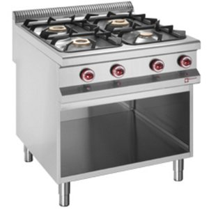 Diamond Gas stove | 4 Burners | 3.2 and 5.5, and 7kW | Open Cupboard | 800x900x (h) 850 / 920mm