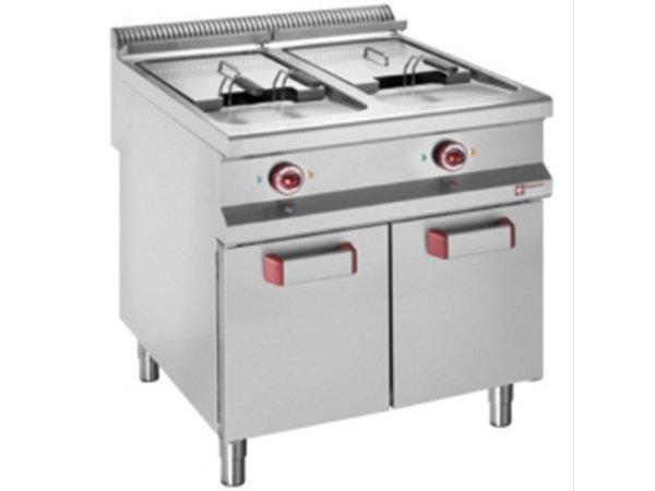 Diamond Gas Fryer | 20 Liter | Geschlossene Gehäuse mit Klapp | 800x900x (h) 850 / 920mm