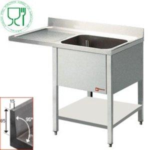 Diamond Sink - 1 Behälter - 1400x700x900 (h) - Entwässerung Verbindungen