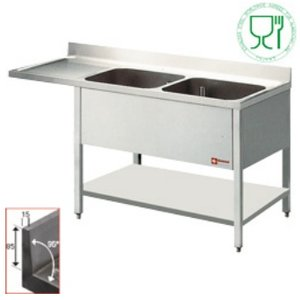Diamond Sink - two buckets 500x500x325 (h) mm - 1800x700x880-900 (h) - draining Links