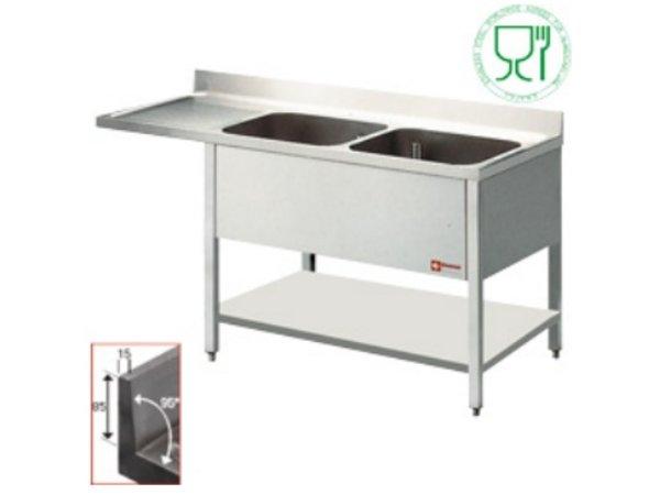 Diamond Sink - two buckets 500x500x325 (h) mm - 1800x700x880-900 (h) - draining Links