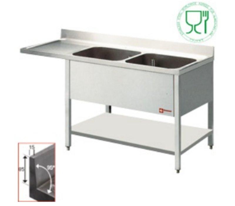 Diamond Sink - zwei Eimer 500x500x325 (H) mm - 1800x700x880-900 (h) - Ablassen Verbindungen