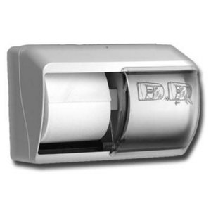 XXLselect Dispenser Duorol - Kunstof Wit - 140x260x(h)180mm