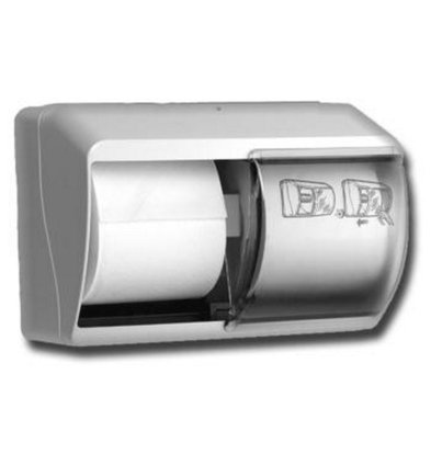 XXLselect Dispenser Duorol - weiße Kunststoff - 140x260x (H) 180mm