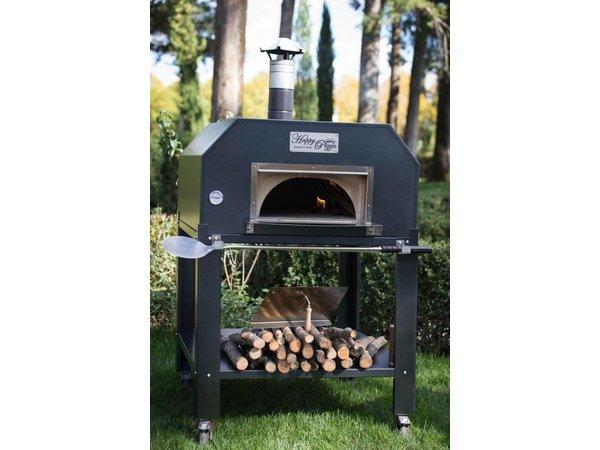 XXLselect Pizza-Ofen SS 'Creativo' | Charcoal / Wood Fired | 5 Pizzen | 500 ° C | 1000x1000x (h) 2030mm