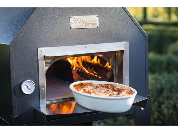 XXLselect Pizza Oven SS 'Creativo' | Charcoal / Wood Fired | 5 Pizzas | 500 ° C | 1000x1000x (h) 2030mm