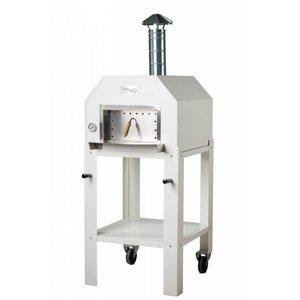 XXLselect Pizza Oven RVS 'Italo' | Houtskool/Houtgestookt | 2 Pizza's | 500 °C | 700x700x2030(h)mm