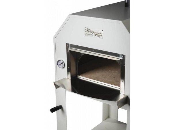 XXLselect Pizza-Ofen SS 'Italo' | Charcoal / Wood Fired | 2 Pizzen | 500 ° C | 700x700x2030 (h) mm