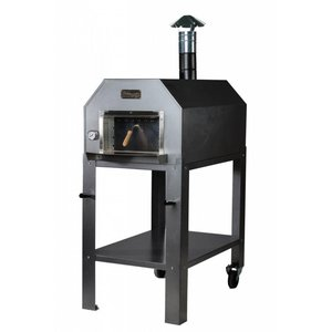 XXLselect Pizza-Ofen SS 'Diamante' | Charcoal / Wood Fired | 3-4 Pizzen | 500 ° C | 700 (l) x1000x (h) 2030mm