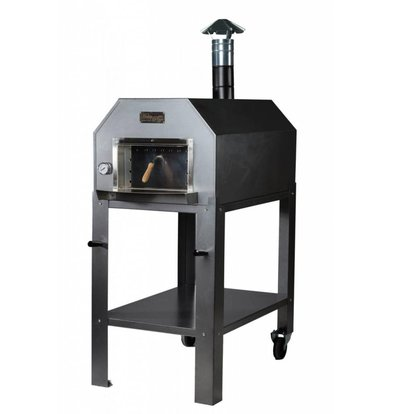 XXLselect Pizza Oven SS 'Diamante' | Charcoal / Wood Fired | 3-4 Pizzas | 500 ° C | 700 (l) x1000x (h) 2030mm