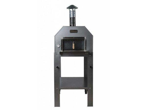 XXLselect Pizza-Ofen SS 'Diamante' | Charcoal / Wood Fired | 3-4 Pizzen | 500 ° C | 700 (l) x1000x (h) 2030mm
