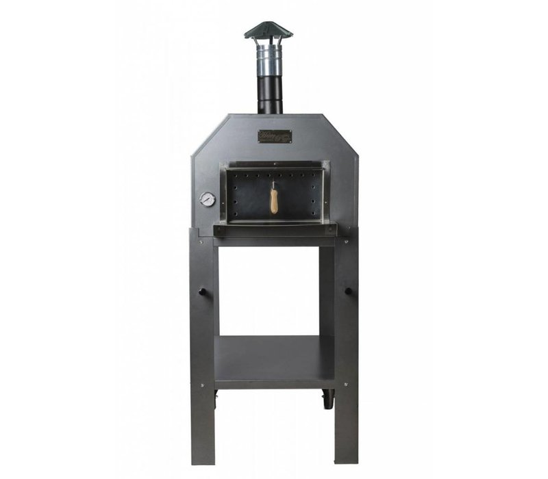 XXLselect Pizza Oven SS 'Diamante'   Charcoal / Wood Fired   3-4 Pizzas   500 ° C   700 (l) x1000x (h) 2030mm