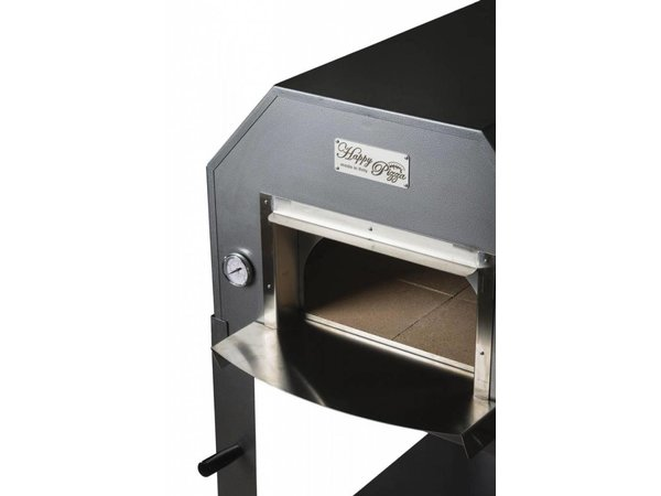 XXLselect Pizza Oven RVS 'Diamante' | Houtskool/Houtgestookt | 3-4 Pizza's | 500 °C | 700(l)x1000x(h)2030mm