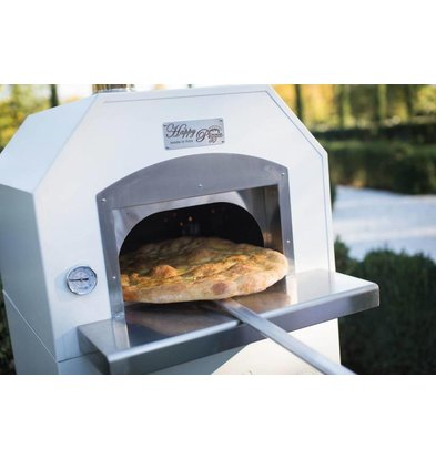 XXLselect Pizza Oven RVS 'Combi' | Gas | 4 Pizza's | 500 °C | 700x700x(h)2030mm