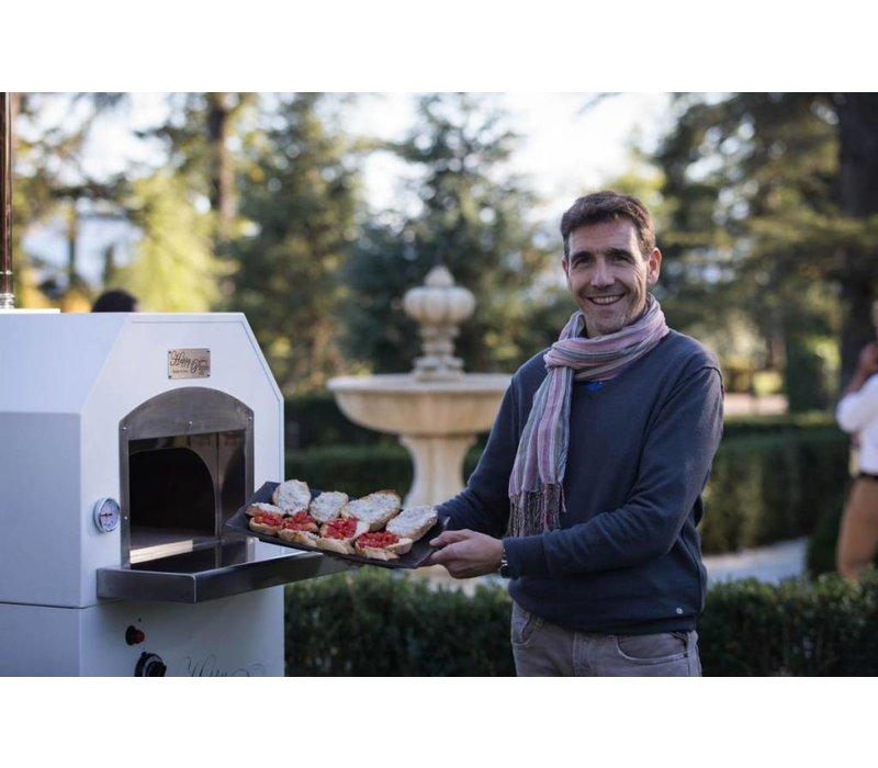 XXLselect Pizza Oven RVS 'Combi' | Gas | 4 Pizza's | 500 °C | 700x700x(h)2030mm