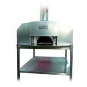 XXLselect Pizza-Ofen SS 'Erio' | Charcoal / Wood Fired | 8 Pizzen | 500 ° C | 1400x1400x (h) 1860mm