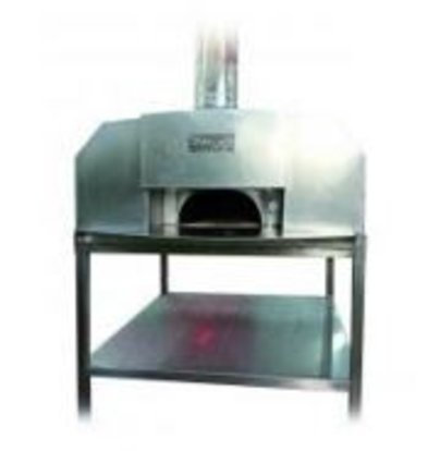 XXLselect Pizza Oven SS 'Erio' | Charcoal / Wood Fired | 8 Pizzas | 500 ° C | 1400x1400x (h) 1860mm