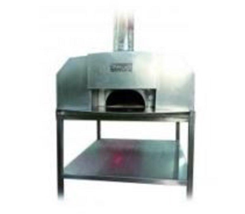 XXLselect Pizza Oven RVS 'Erio' | Houtskool/Houtgestookt | 8 Pizza's | 500 °C | 1400x1400x(h)1860mm