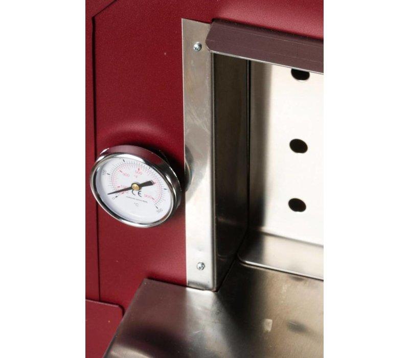 XXLselect Pizza Oven RVS Vulcano| Houtskool/Houtgestookt | 1 Pizza | 500 °C | 600(l)x500x(h)2030mm