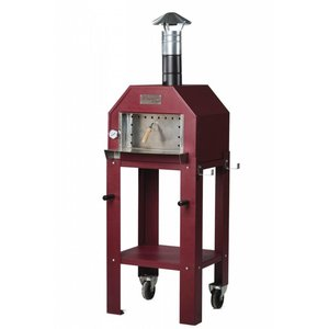 XXLselect Pizza Oven SS Vulcano | Charcoal / Wood Fired | 1 Pizza | 500 ° C | 600 (l) x500x (h) 2030mm