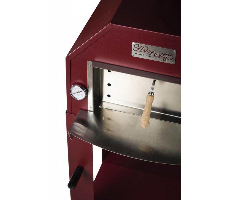 XXLselect Pizza-Ofen SS Vulcano | Charcoal / Wood Fired | 1 Pizza | 500 ° C | 600 (l) x500x (h) 2030mm