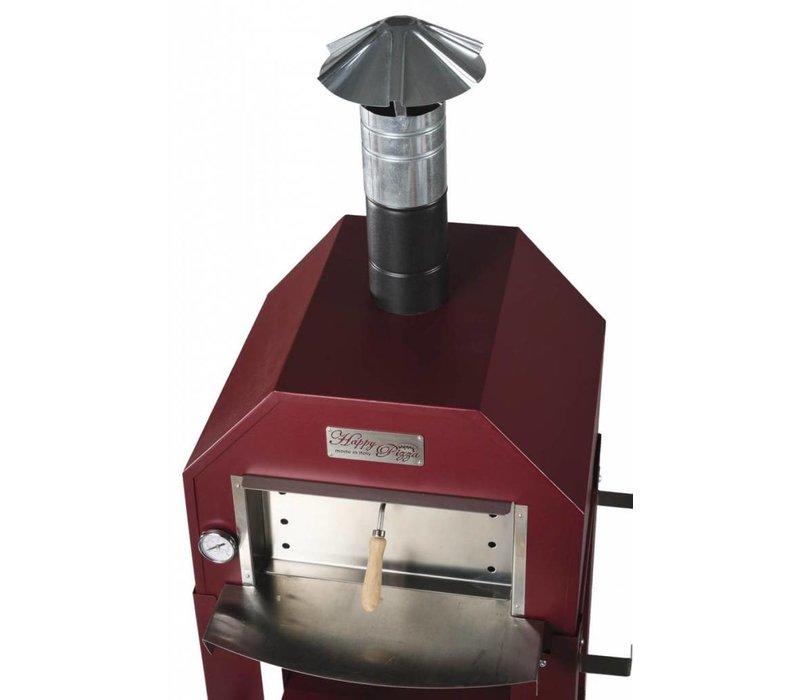 XXLselect Pizza Oven SS Vulcano | Charcoal / Wood Fired | 1 Pizza | 500 ° C | 600 (l) x500x (h) 2030mm