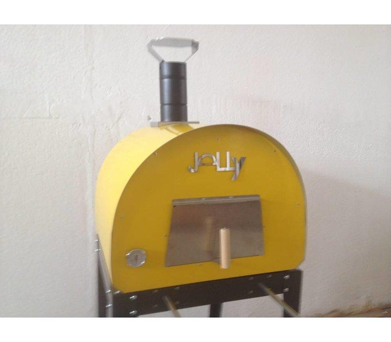 XXLselect Pizza Oven RVS 'Jally'   Houtskool/Houtgestookt   2 Pizza's   360 °C   700x700x(h)750mm