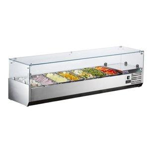 Saro Refrigerated display case design - 7x 1/4 GN - 160x33,5x (H) 43.5 cm
