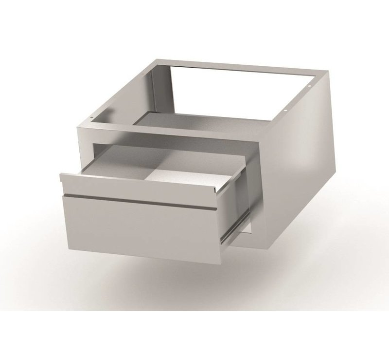 XXLselect Extra serving tray stainless steel Workbench, Cupboard, Sink - 2 Sizes: 600x400x260 (h) mm / 700x400x260 (h) mm