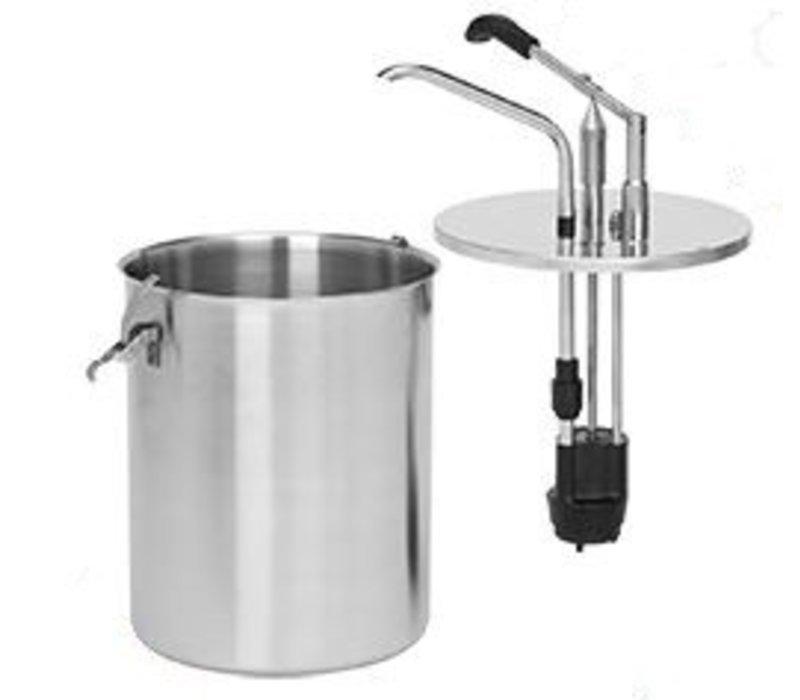 XXLselect Sauzen-Dispenser RVS 18/8 - Ø19 mm - 6 Liter