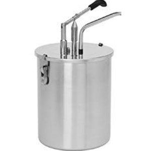 XXLselect Sauces-dispenser Stainless steel 18/8 - Ø19 mm - 6 Liter