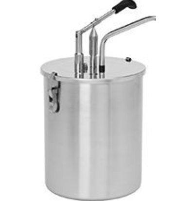 XXLselect Saucen-Spender Edelstahl 18/8 - Ø19 mm - 6 Liter