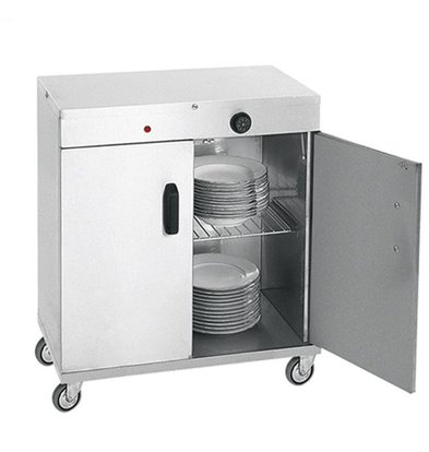 XXLselect Plate warmer for 80 plates - 1000W - 72x44x (h) 80cm