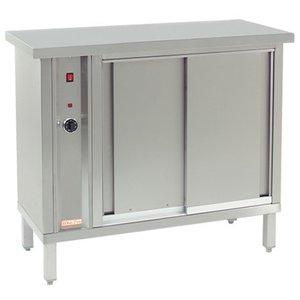 XXLselect Heat plate warmer for 120 plates - 1000W - 105x46x (h) 90cm