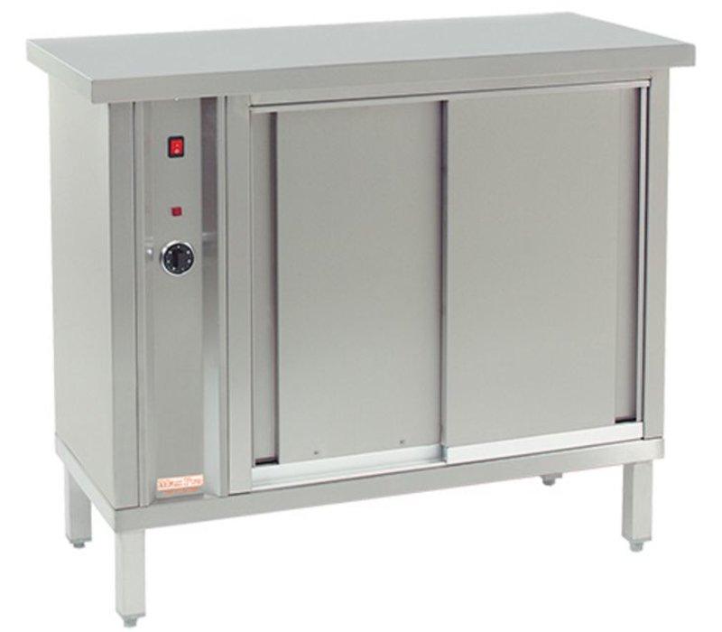 XXLselect Hetelucht bordenwarmer voor 120 borden - 1000W - 105x46x(h)90cm