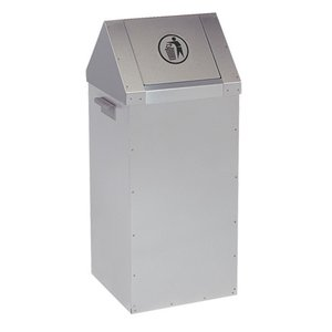 XXLselect Fast food waste bin - RVS - 300x300x (H) 730mm