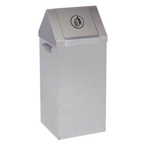 XXLselect Fastfood afvalbak - RVS - 300x300x(h)730mm