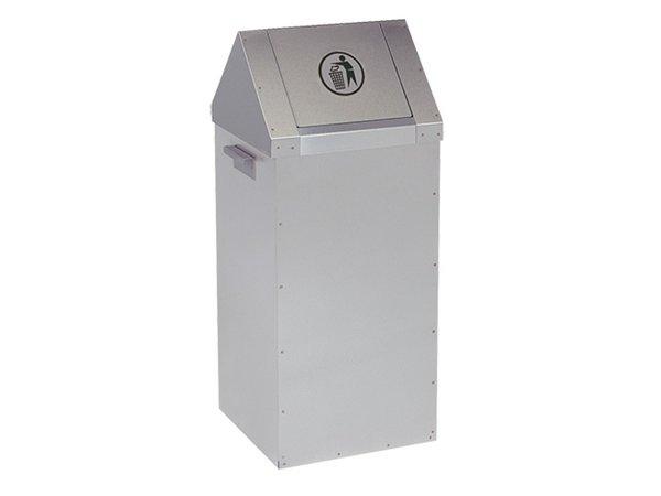 XXLselect Fast food waste bin - RVS - 300x300x (H) 730mm