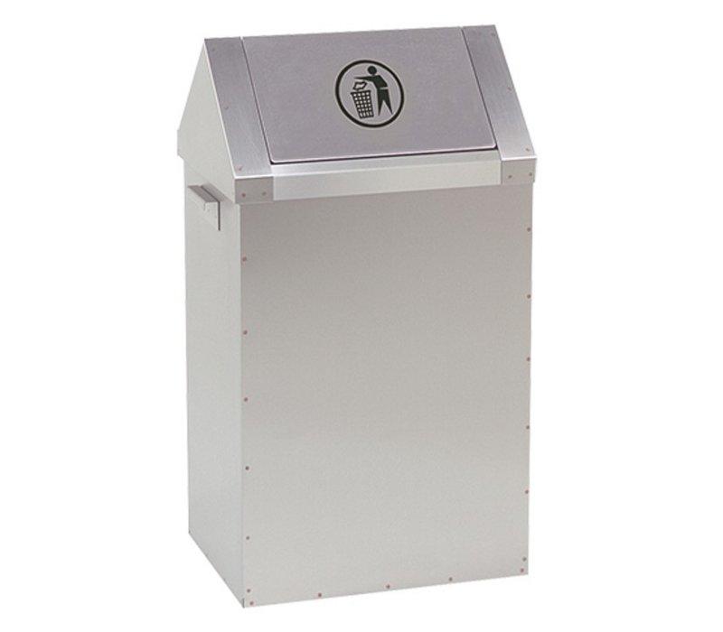 XXLselect Fast Food Abfallbehälter - RVS - 400x300x (H) 730mm