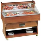 Diamond Mobile Fish Refrigerated display case | Vistoog | Solid Wood | 230V / 790W | 1417x745x1285 / 1605 (h) mm