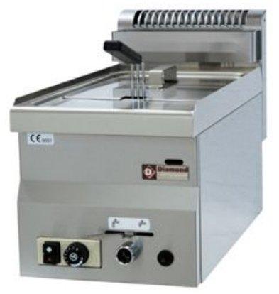 Diamond Gas Fryer | 8 Liter | Tischplatte | 6,8 Kw | 300x600x280 / 400 (h) mm